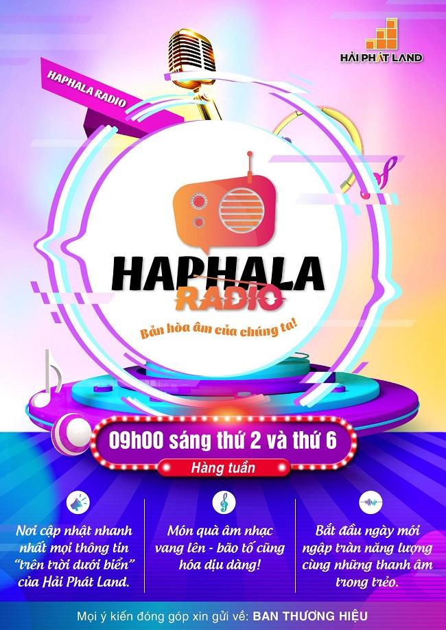 Haphala Radio - Kênh phát thanh nội bộ của Hải Phát Land sắp ra mắt