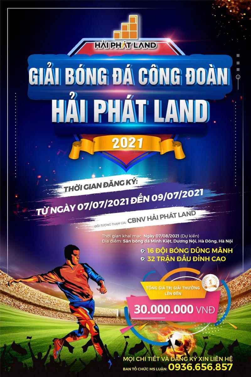 Khởi tranh Giải bóng đá Công đoàn Hải Phát Land năm 2021