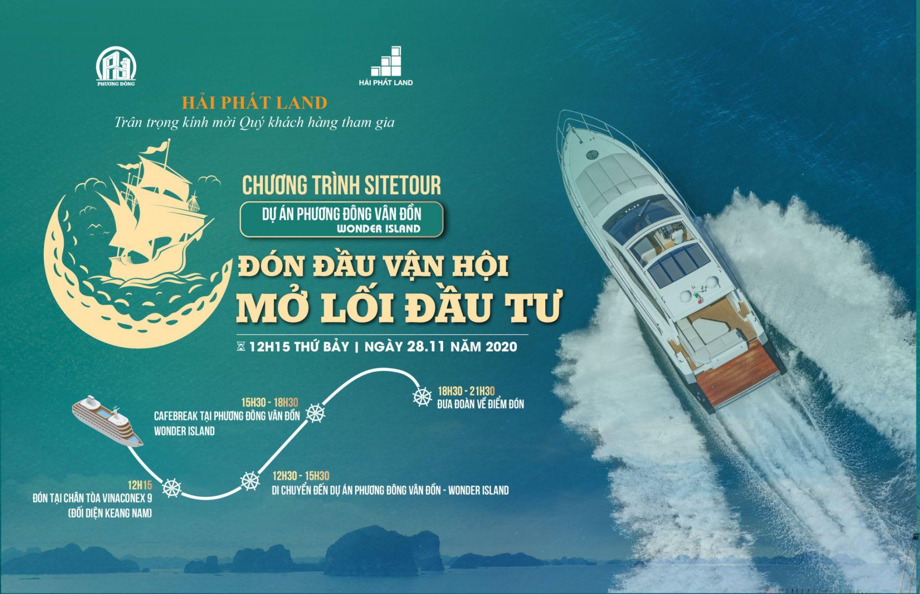 Chương trình Sitetour dự án KĐT Phương Đông Vân Đồn - Wonder Island