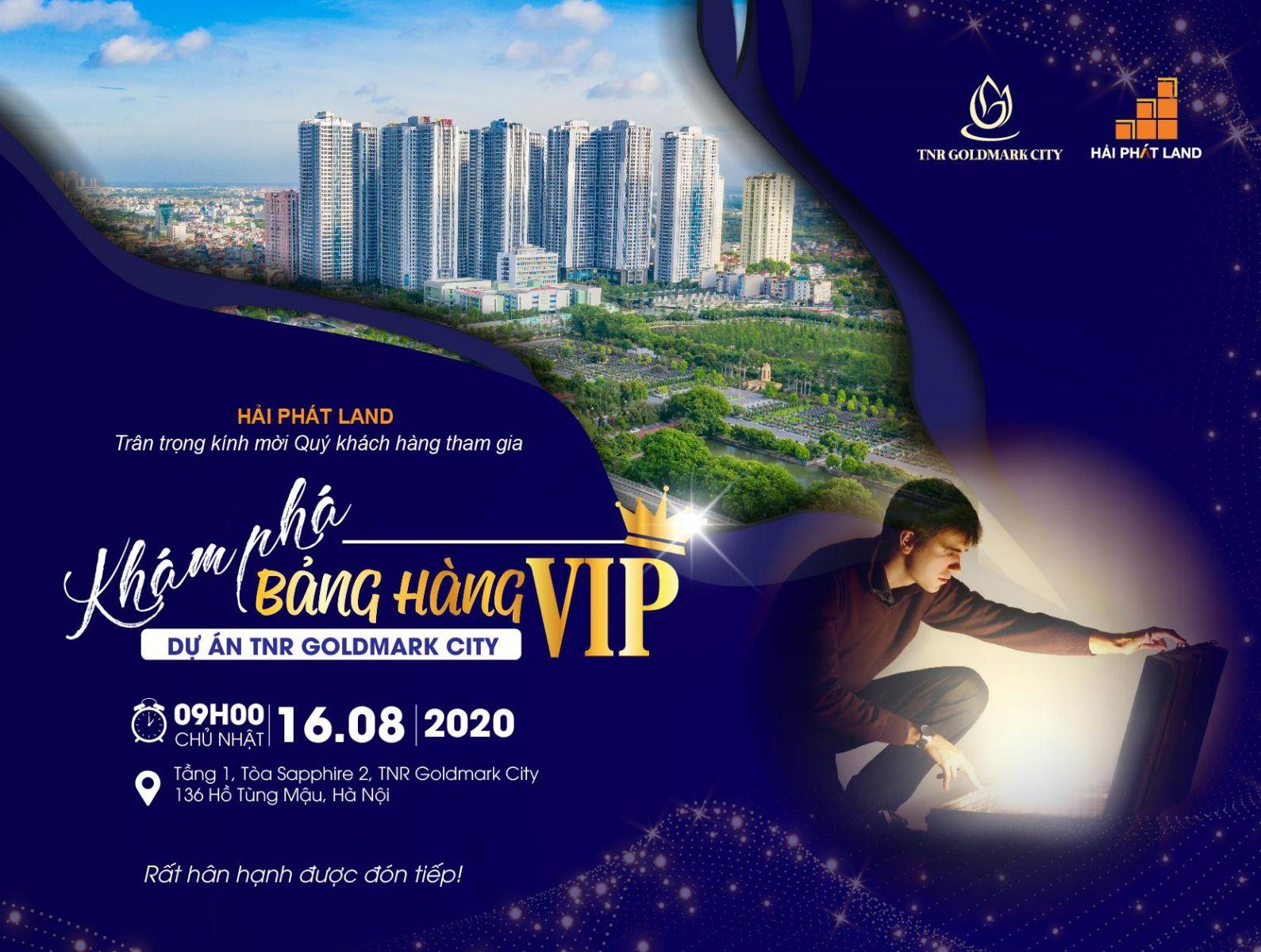 Khám phá bảng hàng VIP dự án TNR Goldmark City