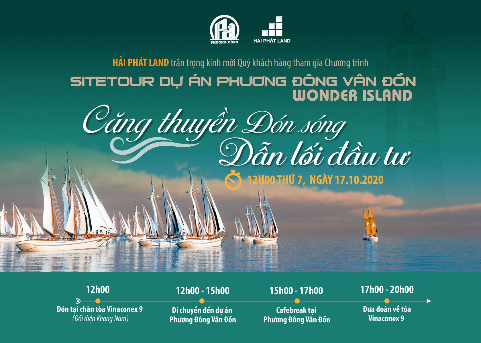 Sitetour dự án Wonder Island Phương Đông