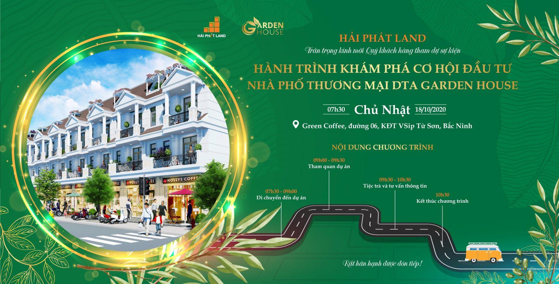 Hành trình khám phá cơ hội đầu tư nhà phố thương mại DTA Garden House