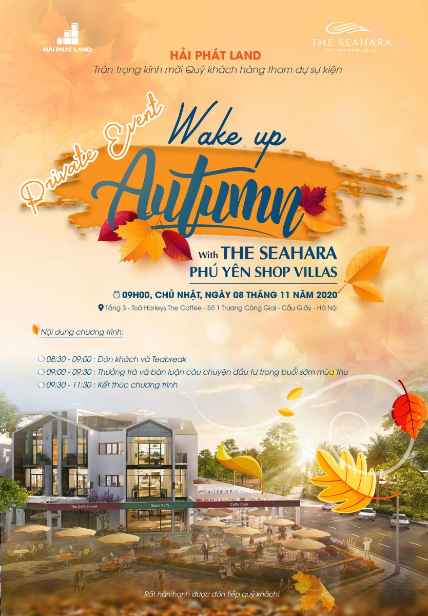 Private Event: Wake up Autumn With The Seahara Phú Yên Shop Villas