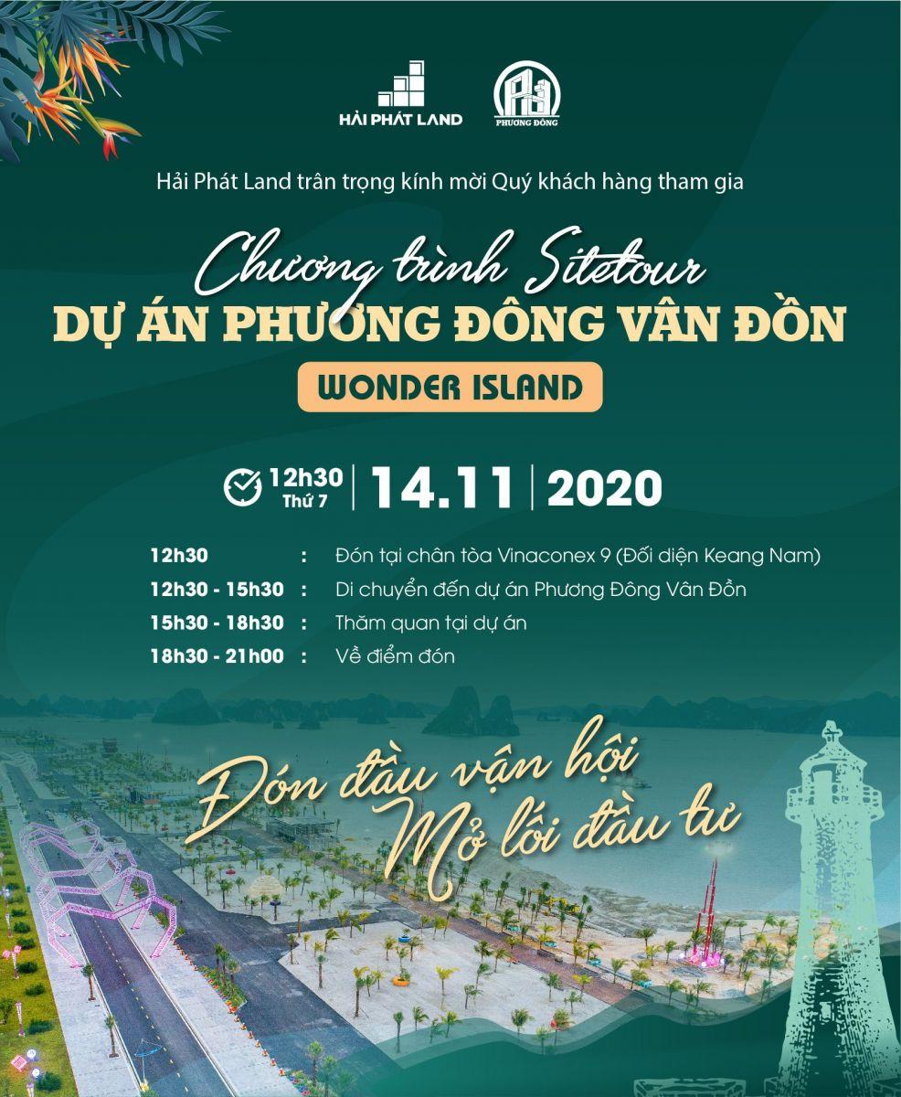 Chương trình sitetour dự án Phương Đông Vân Đồn - Wonder Island
